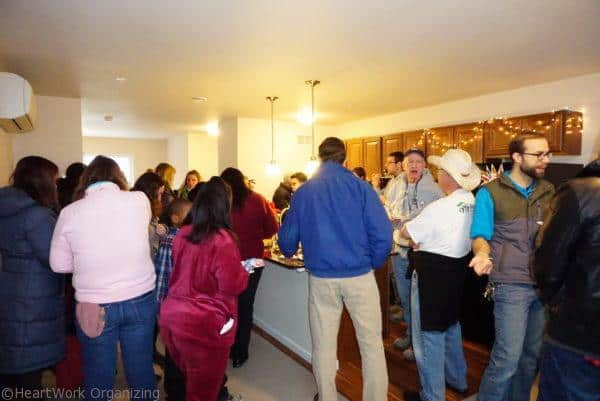 Habitat for Humanity Home Dedication in the new kitchen
