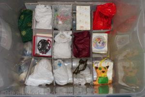 How to store holiday decorations in a storage bin