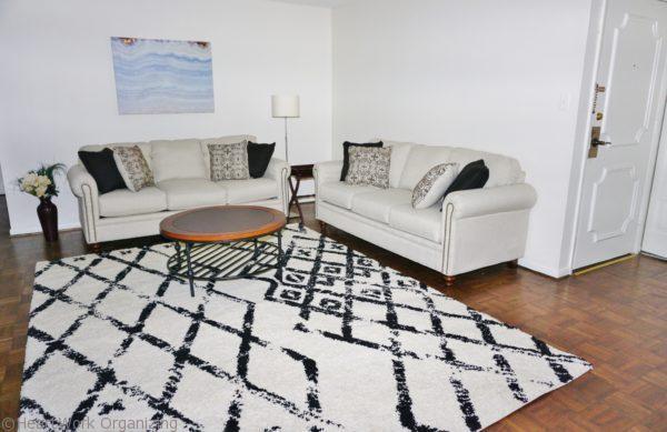 living room staging after