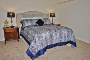 master bedroom staging after