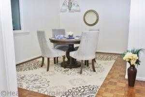 dining room staging after
