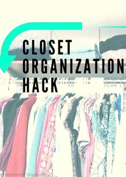 Closet Organization Hack Pin