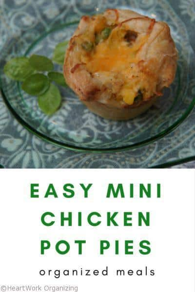 Easy Mini Chicken Pot Pie, quick meals, easy dinner, healthy family dinner ideas