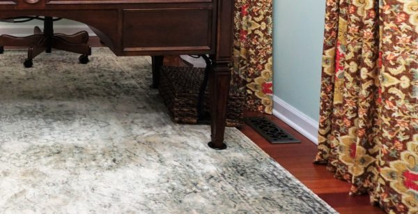 Home Office with New England Style (11) rug