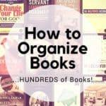 How to Organize Books…HUNDREDS of Books!