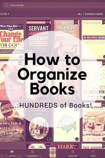How to Organize Books...Hundreds of books