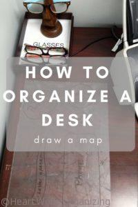 How to organize a desk- draw a map