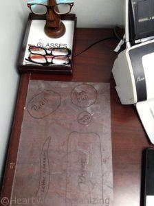 how to organize a desk - draw a map (2)
