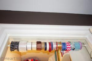 how to organize the linen closet storing ribbons