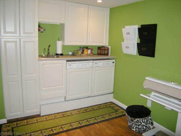 laundry room staged