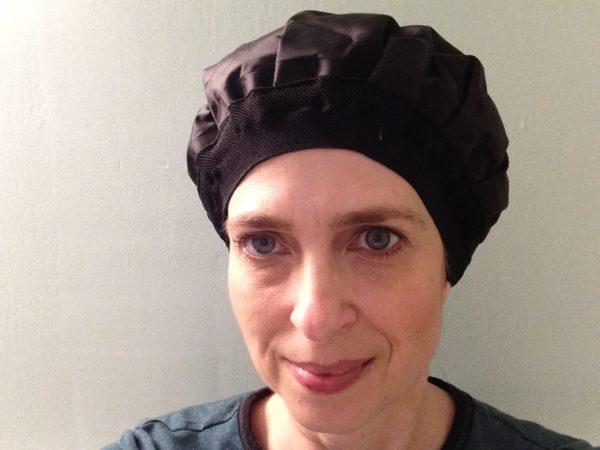 henna hair dye -heated gel cap - self care idea (42)