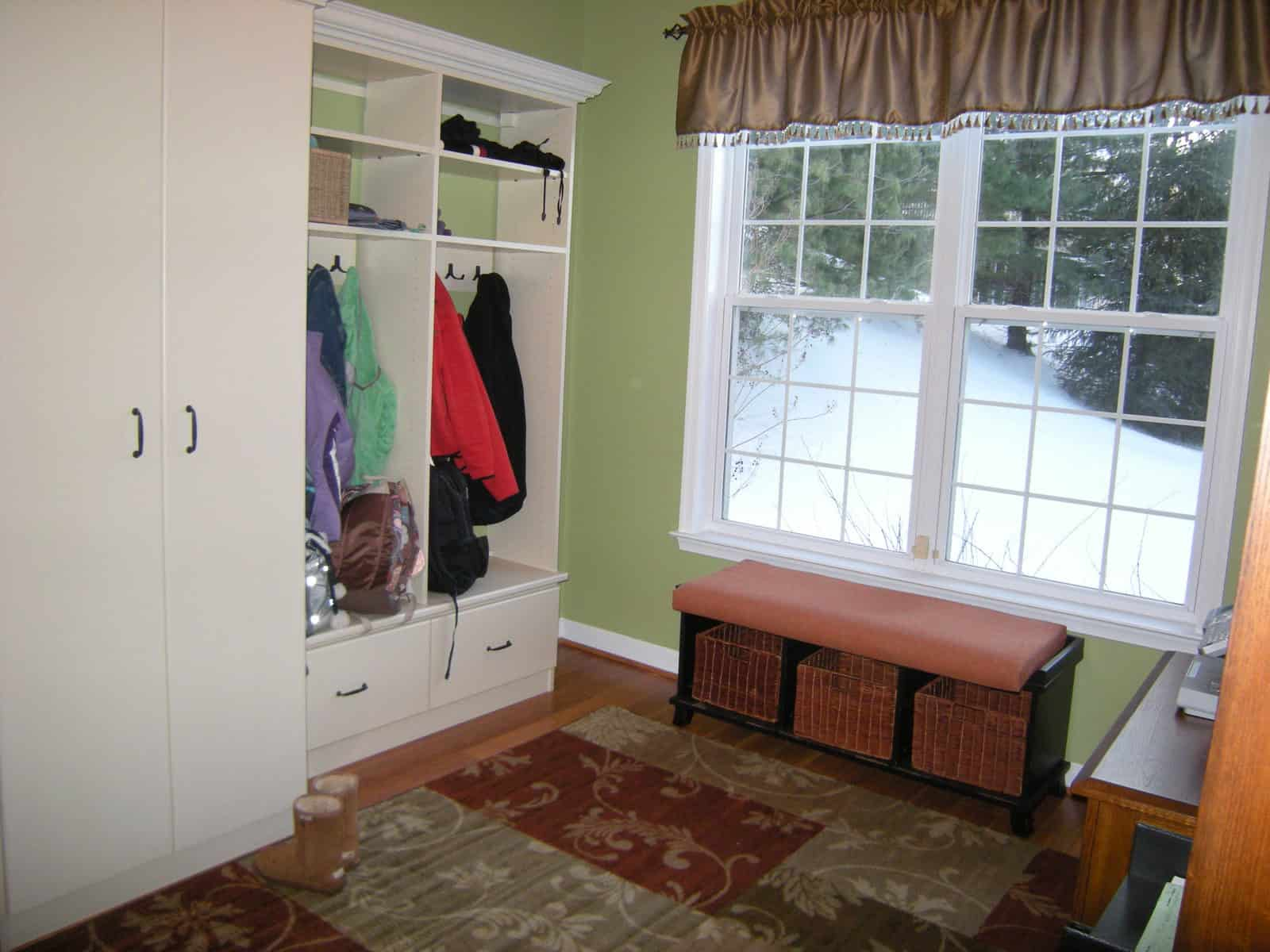 how to pick paint; choosing paint; decorating a mudroom; mudrooms