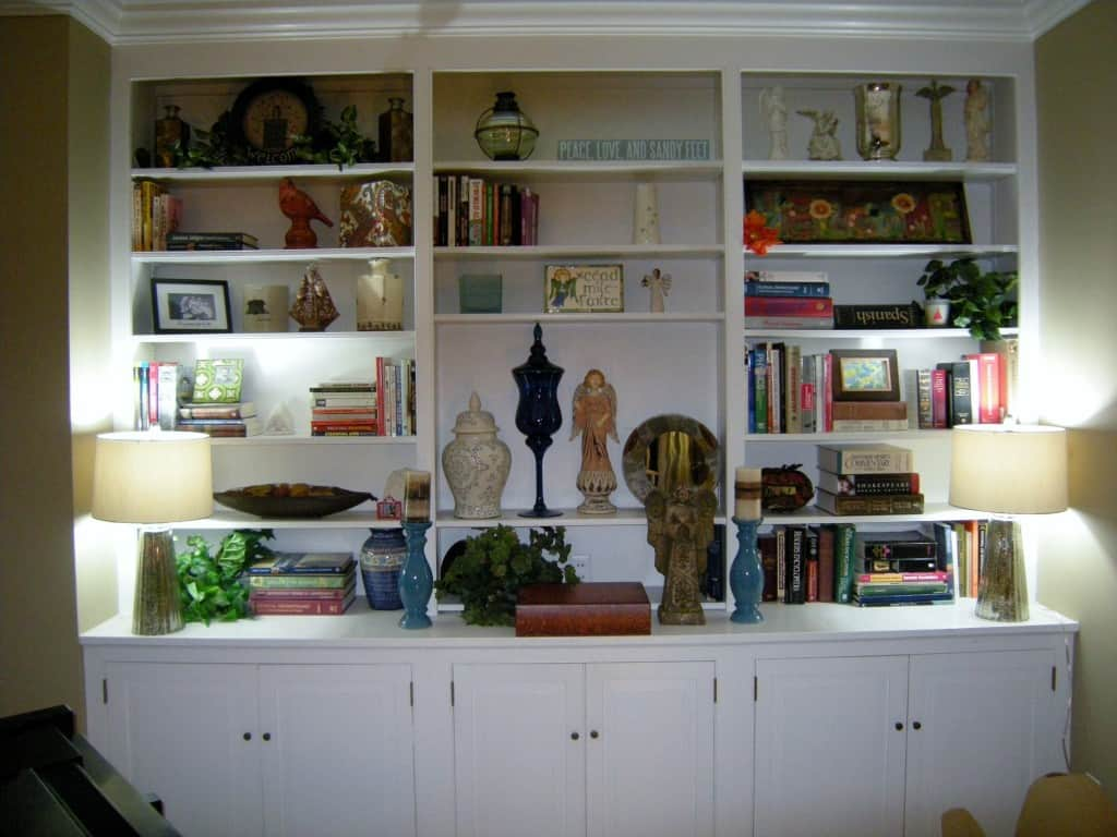 Decorating Bookcases- After