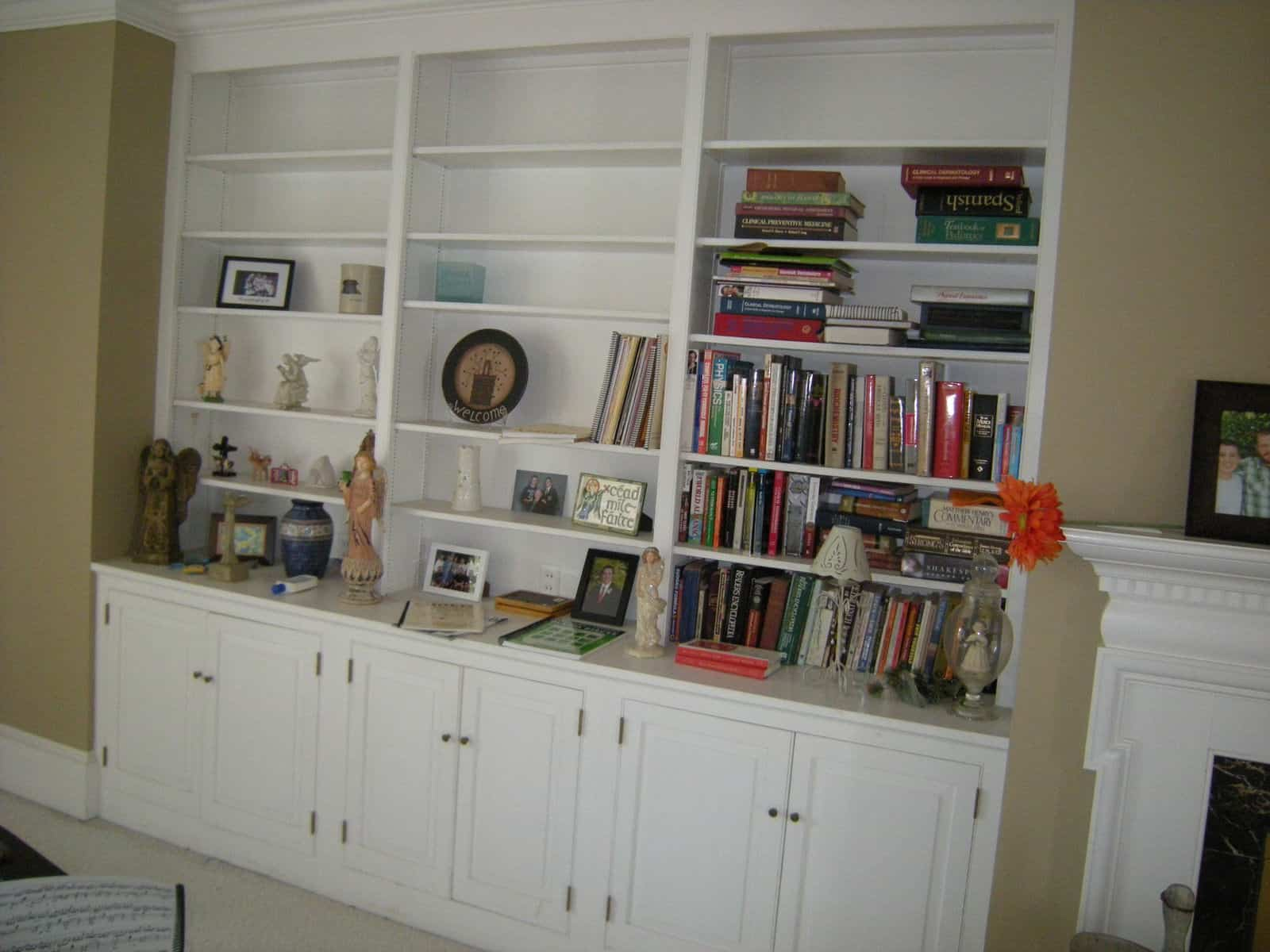 bookcases before - How To Decorate Bookshelves