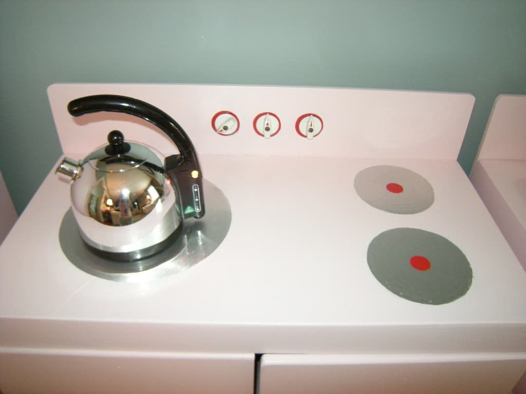 play kitchen remodel with tea kettle