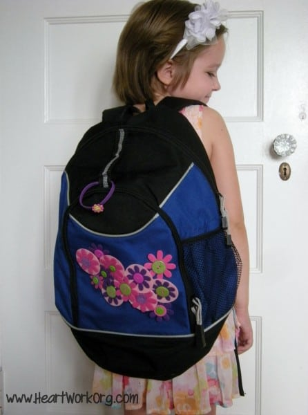 Frugal Backpack Makeover by HomeWork Organizing - Guest Post at The Everyday Home