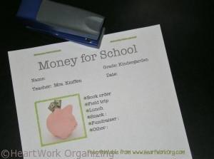 Read more about the article {Free Printable} Note for School Money