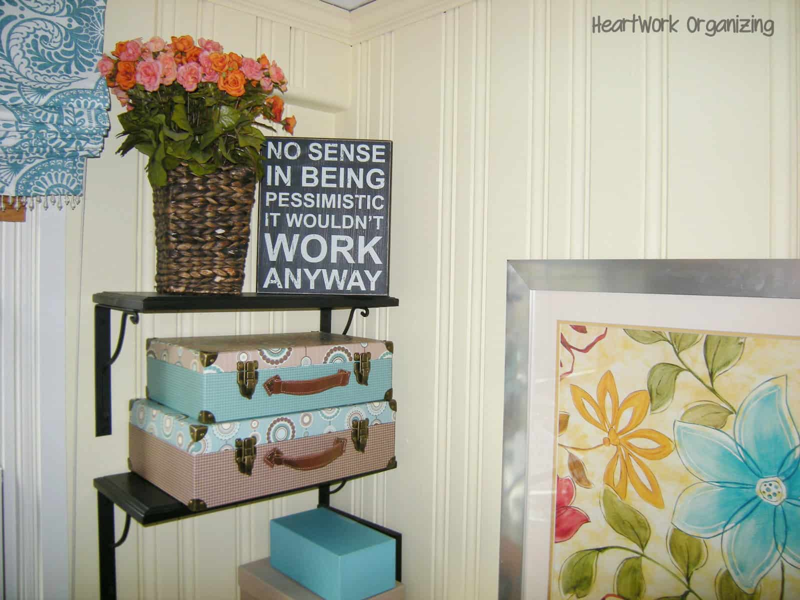no place to go but up office shelving solution heartwork