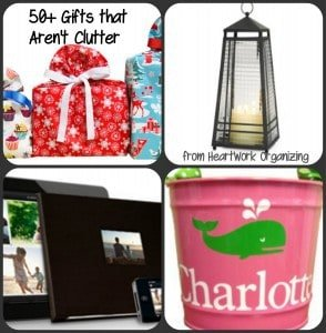 Gifts that aren't clutter