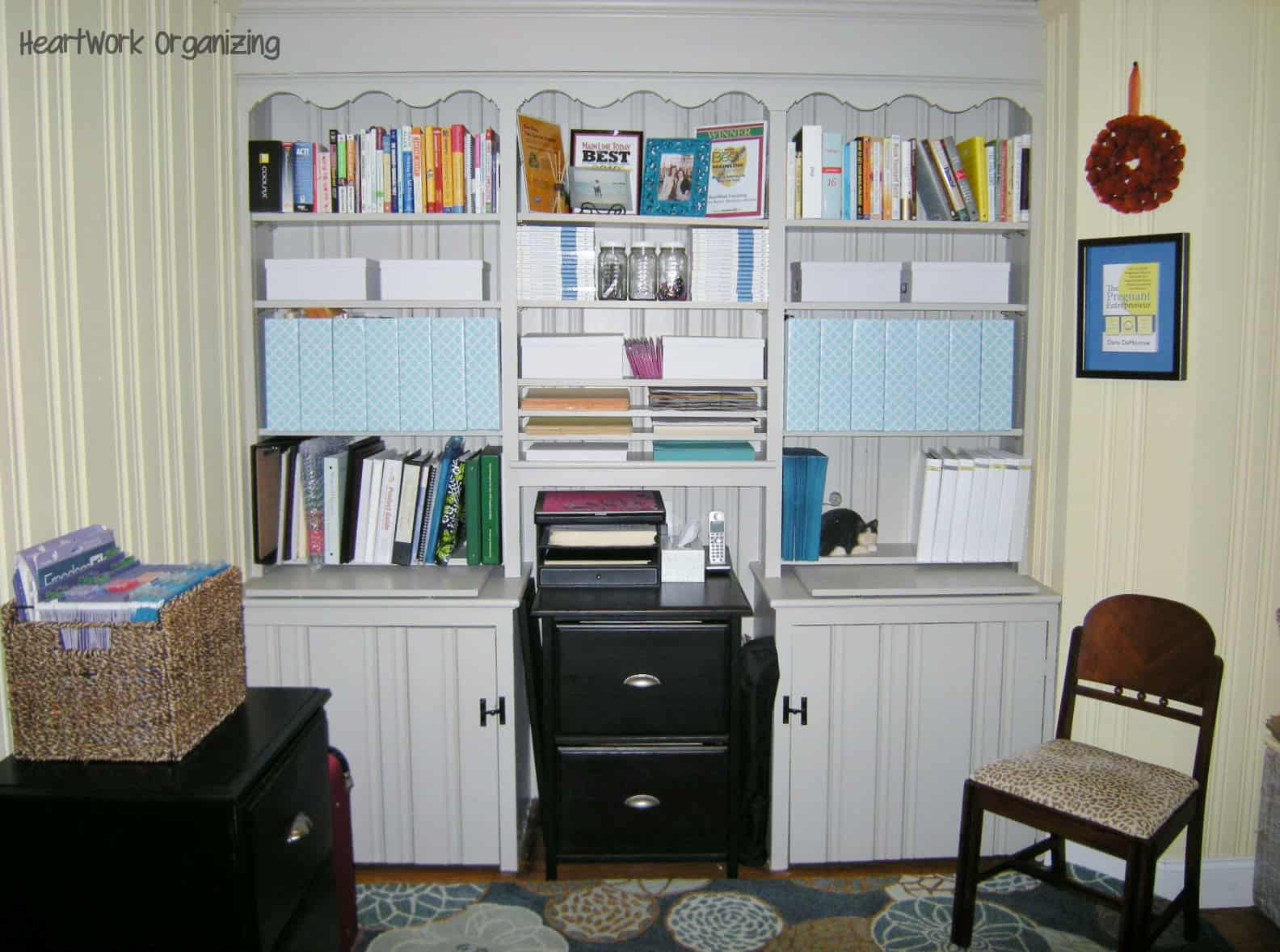 Bookcase Makeover and PullOut Desk for Home Office HeartWorkOrgcom