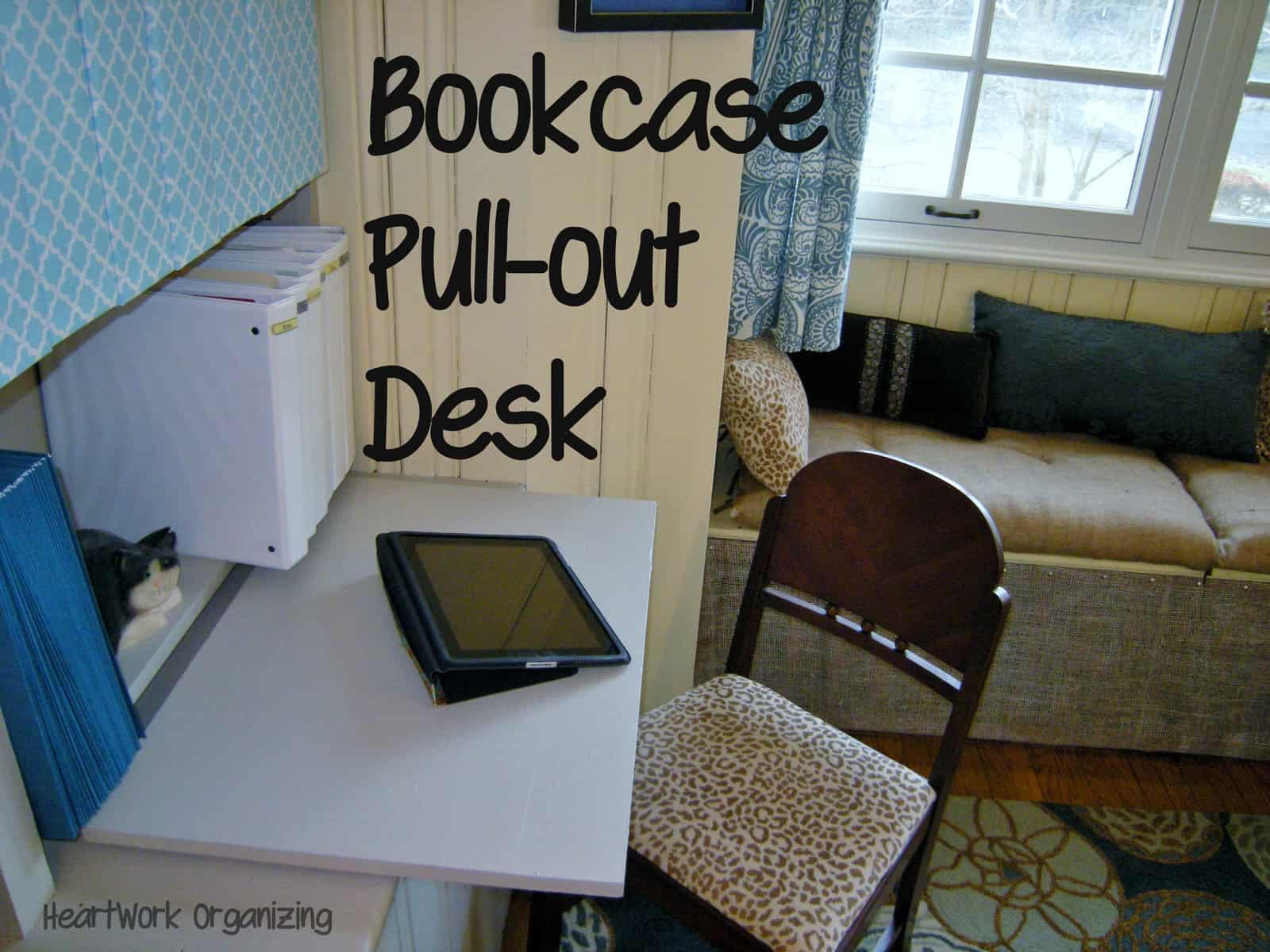 Home Office Bookcase Makeover And Pull Out Desk Super Powers Decorator S