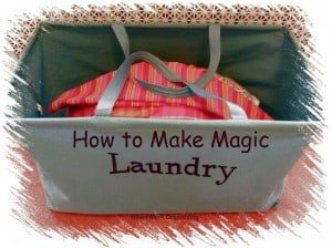 How to organize laundry