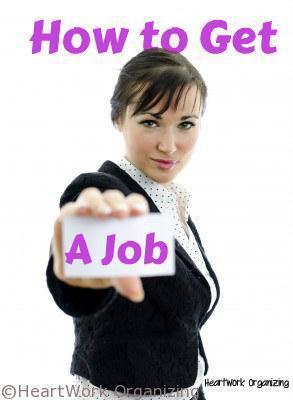 Organizing tips for job hunting