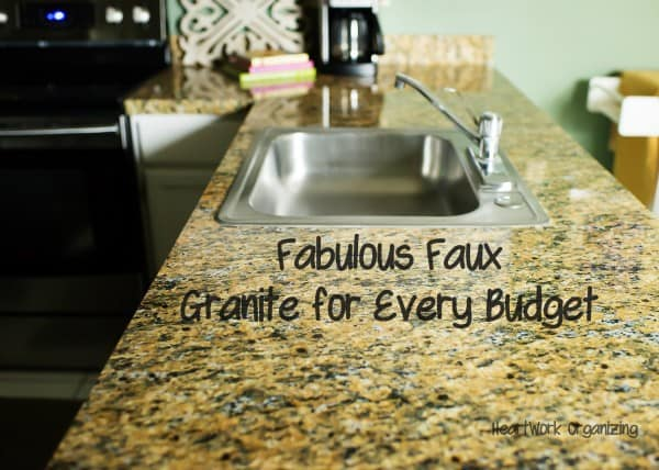 Fabulous Faux granite for a Kitchen Makeover