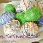 Easy Yarn Easter Egg Craft