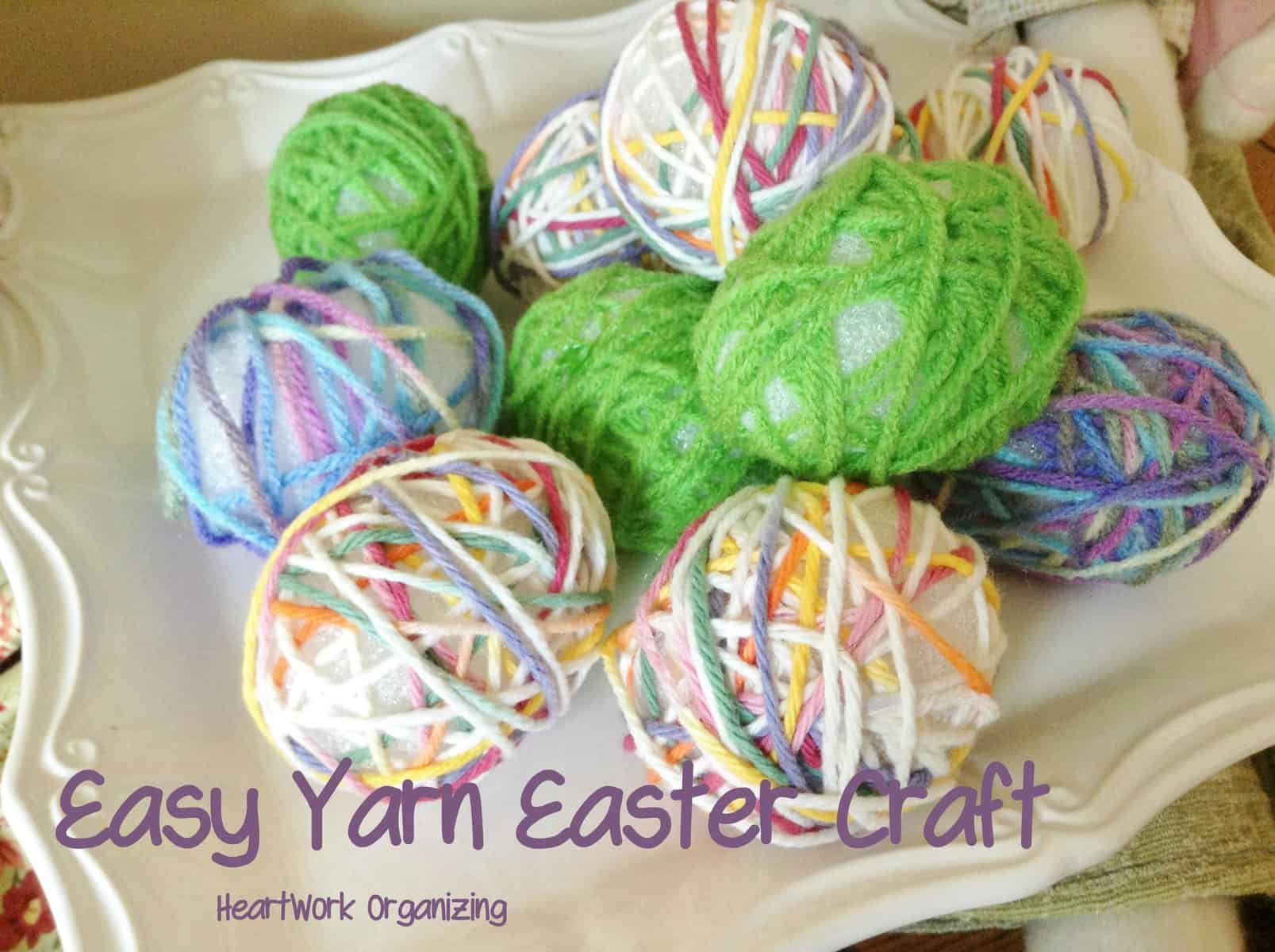 easy yarn easter craft heartwork organizing tips for organizing