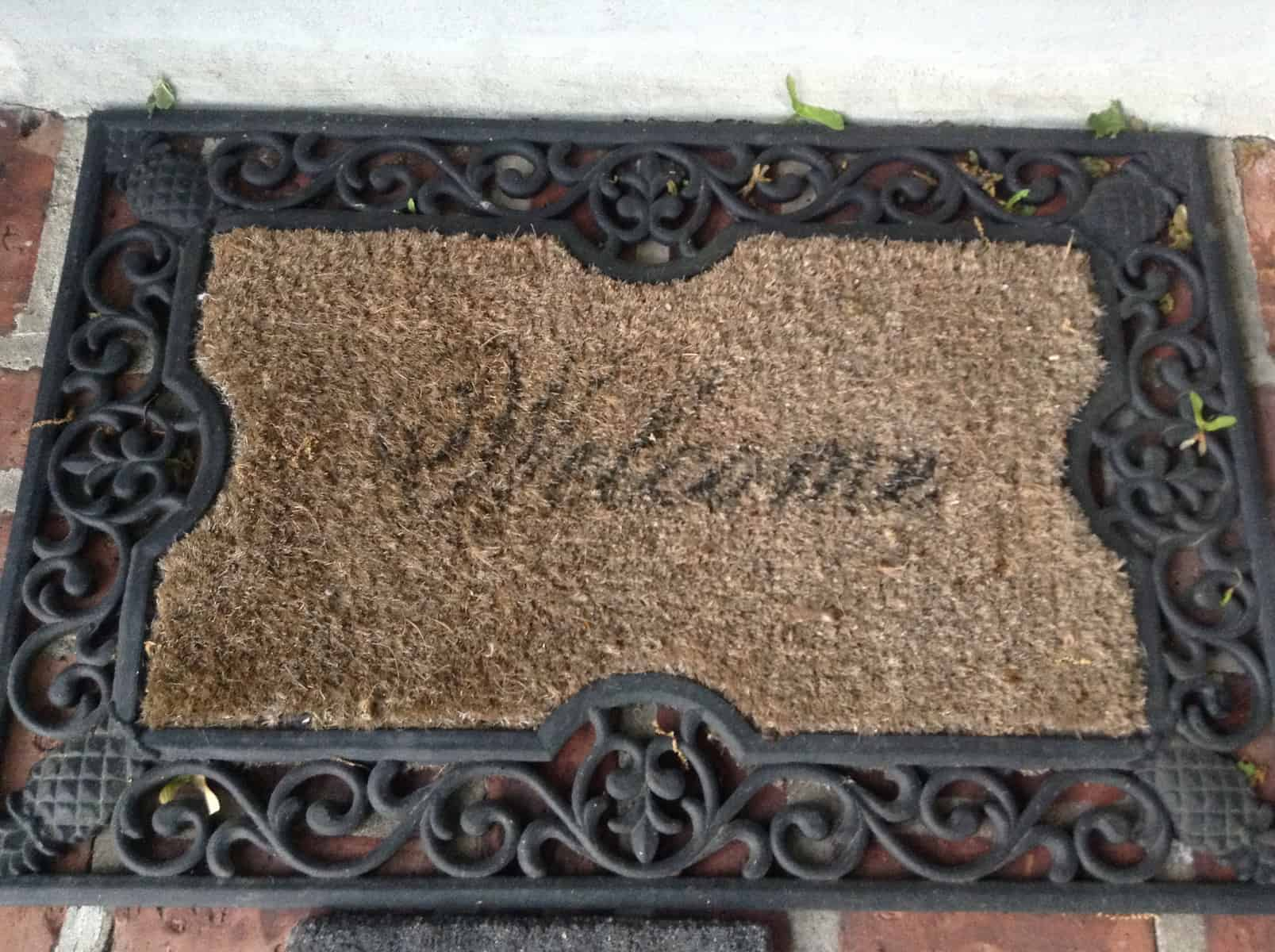 doormat welcome hola m mat