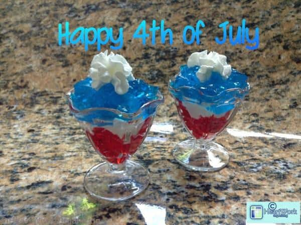 4th of July jello dessert, Fourth of July