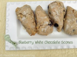 Read more about the article Blueberry White Chocolate Chip Scones