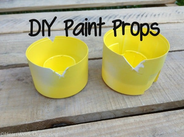 how to prop up painted items so they don't stick