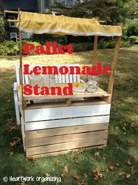 how to build a lemonade stand from pallets
