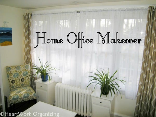 Home office makeover after