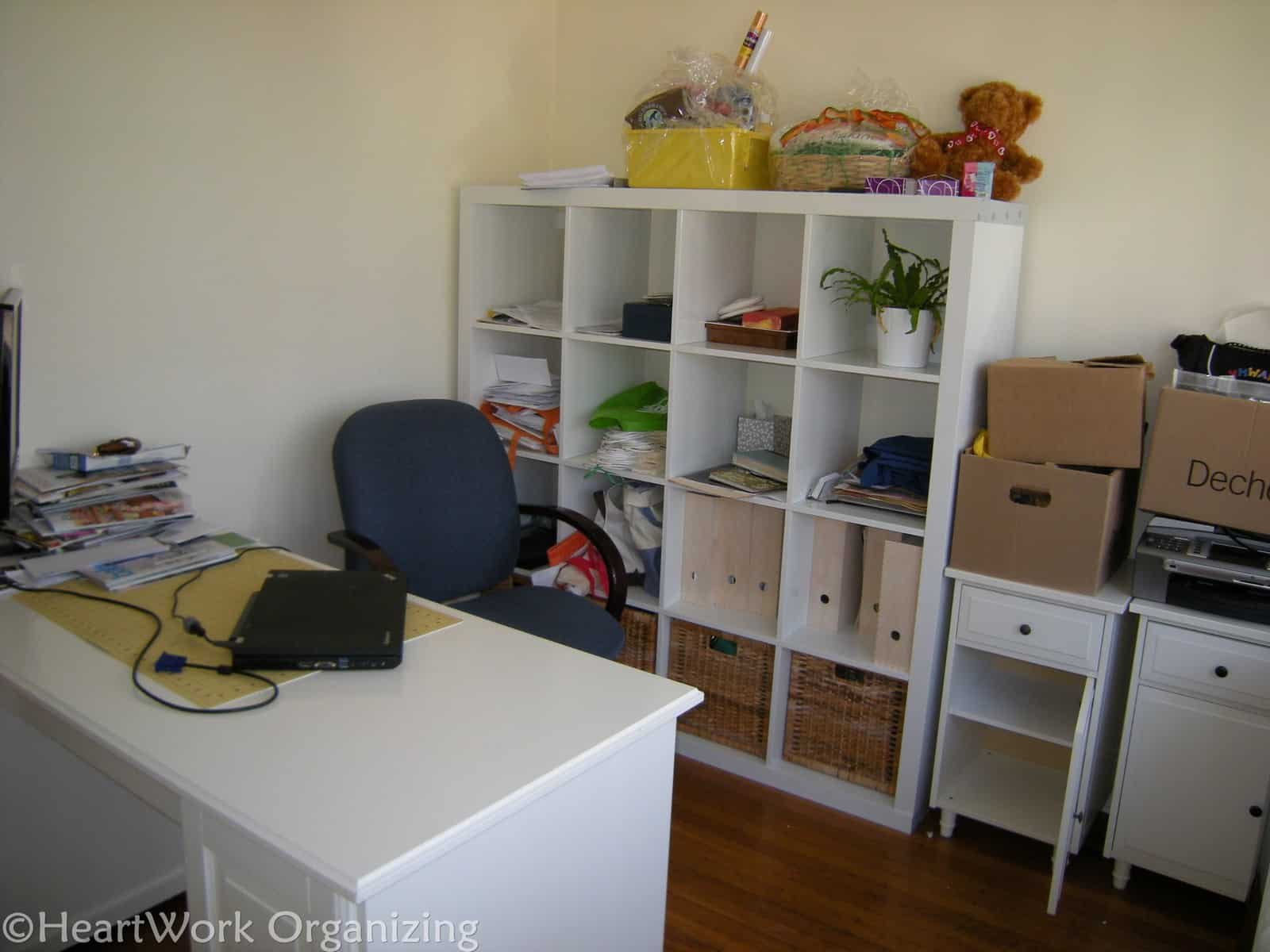 Ikea Expedit Home Office home office makeover with expedit shelving {ikea} | heartworkorg