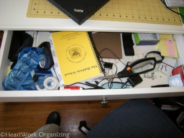 home office makeover desk before