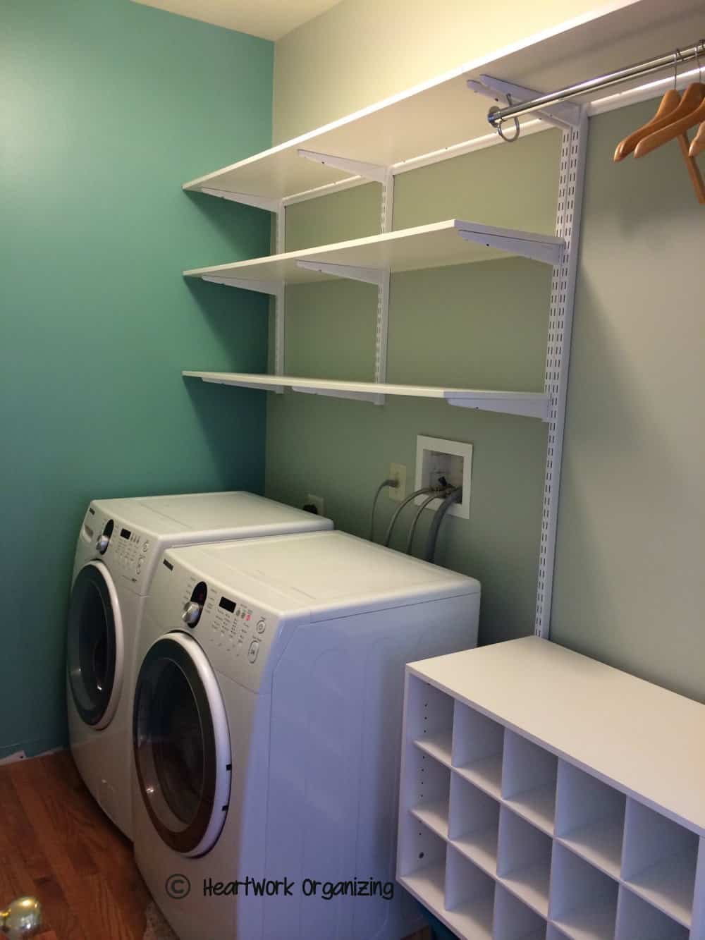 Laundry Room Shelving Of Laundry Room Makeover Do Able Details Heartwork