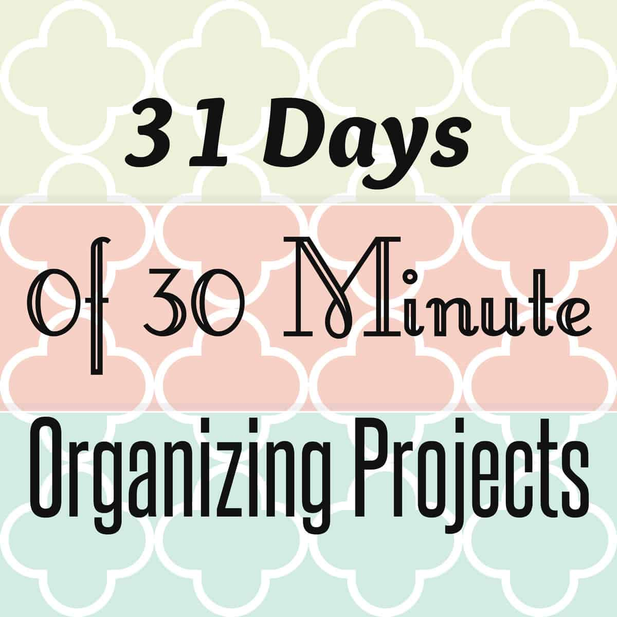 Organizing Projects for Home and Life for the New Year