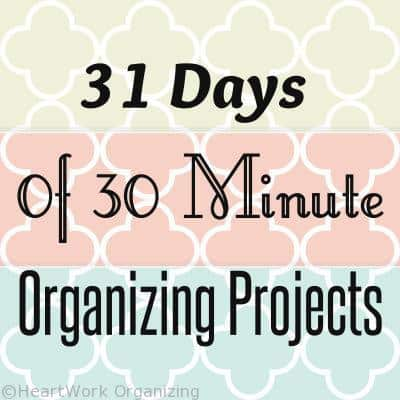 New Years organizing projects, organizing email