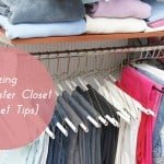 Organizing the Master Closet {11 Closet Tips}