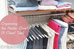 Read more about the article Organizing the Master Closet {11 Closet Tips}