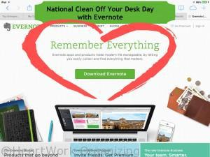 Read more about the article National Clean Off Your Desk Day with Evernote (#CleanDeskDay)