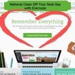 National Clean Off Your Desk Day with Evernote (#CleanDeskDay)