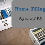 Home Filing- Papers and Bills