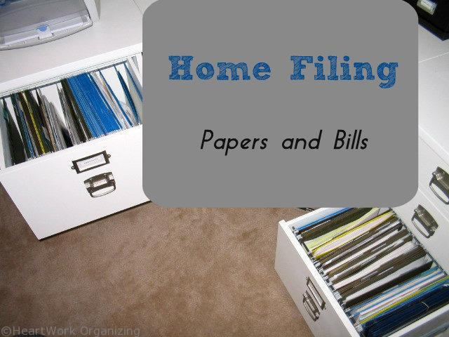 Home Filing Papers And Bills