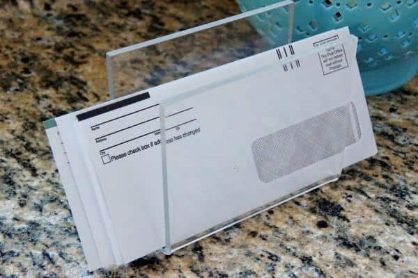 how to organize papers and bills at home