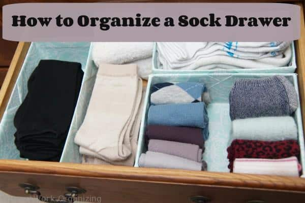sock drawer organizing