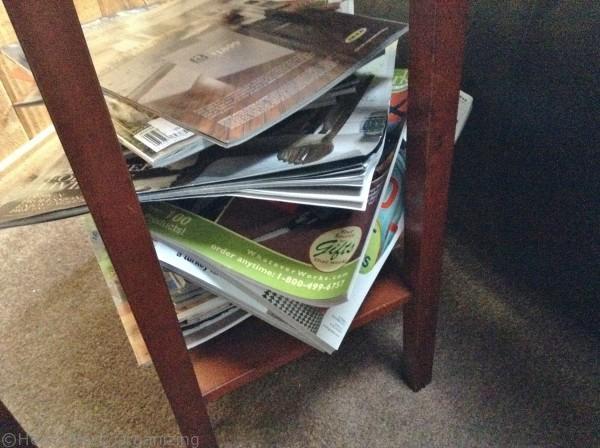 How to organize magazine piles